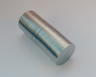 """Disc Neodymium Rare Earth Strong Magnets 10mm x 0.5mm - 25/64"""" x 1/64"""", 10, 25, 50 pack, Thin Neodymium Magnets, Disc Neodymium Magnets, Mag"""