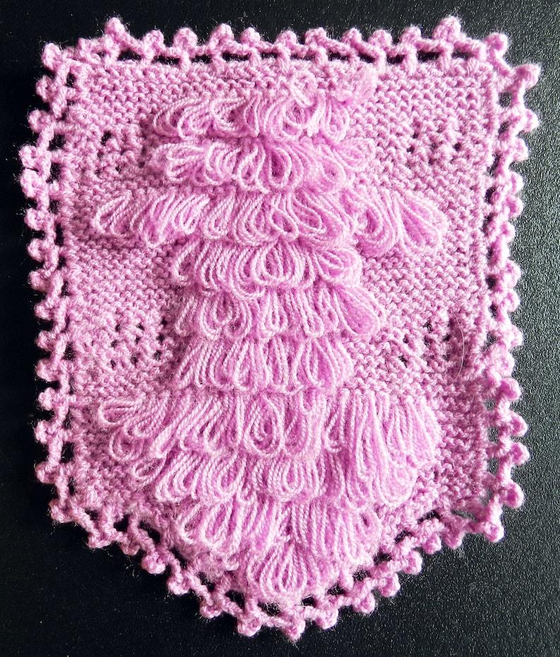 Handmade Washcloth Facecloth Washrag Flannel Gift for Her image 0