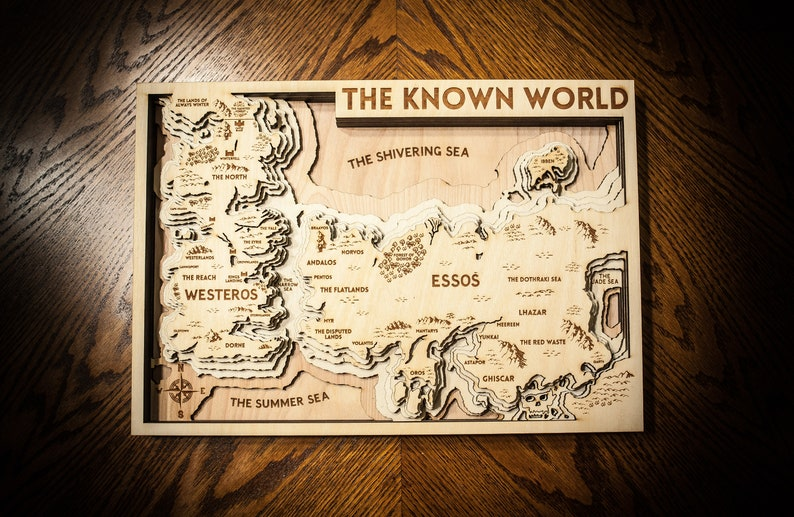 Game of Thrones 3d Wood Map image 0