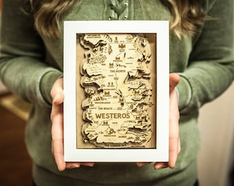 Game of Thrones Framed Map 5x7