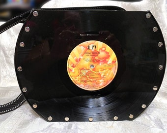 30c3e70d40f0 Kenny Rogers Vinyl Record Purse Handmade Leather LP The Gambler Handbag  Includes cassette change purse holder makeup bag DarlingArtbyValeri
