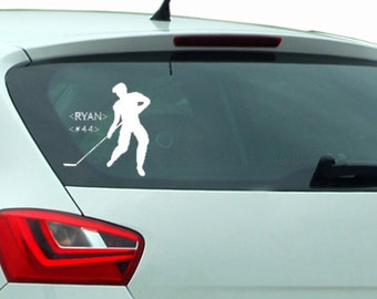 Hockey Window Decal Personalized | Personalize With Your Childs Name