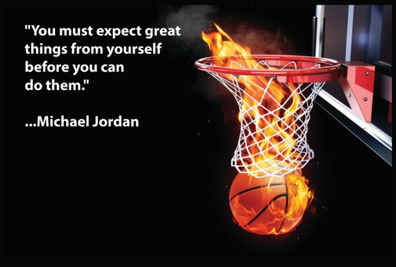 Michael Jordan Sports Quote Wall Poster on Ultra Board With Black Edging.  24x36\