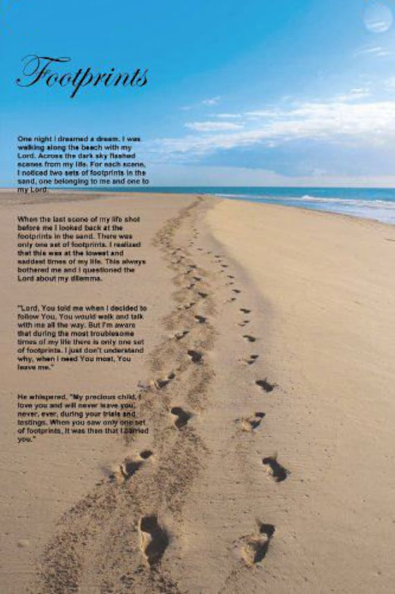This is a graphic of Comprehensive Footprints in the Sand Printable