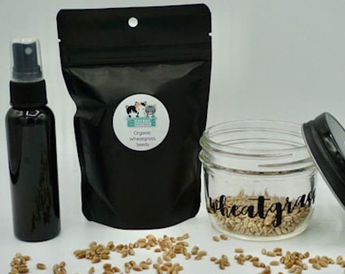 Organic Wheatgrass Growing Kit Gift Set