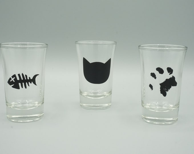 Cat Themed Shot Glasses