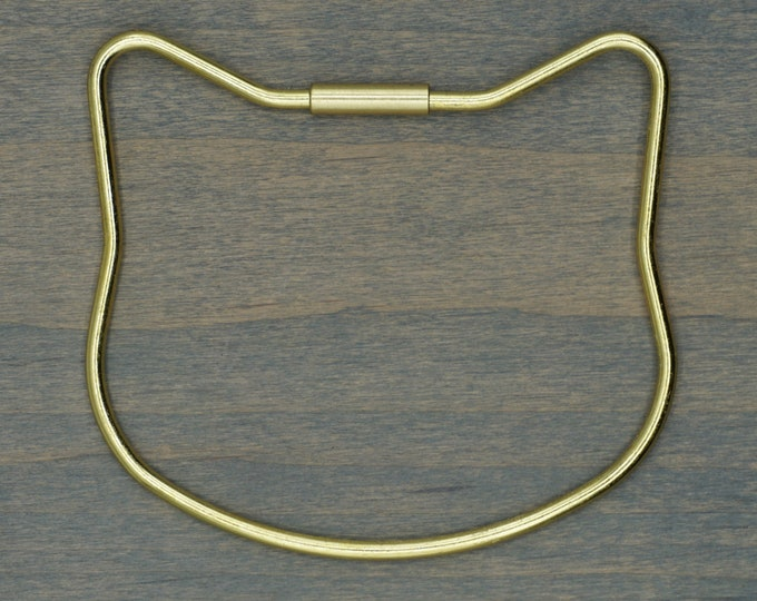 Brass Cat Key Ring