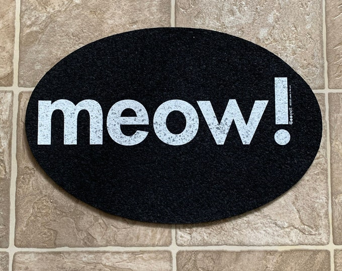 Meow Recycled Rubber Food Mat