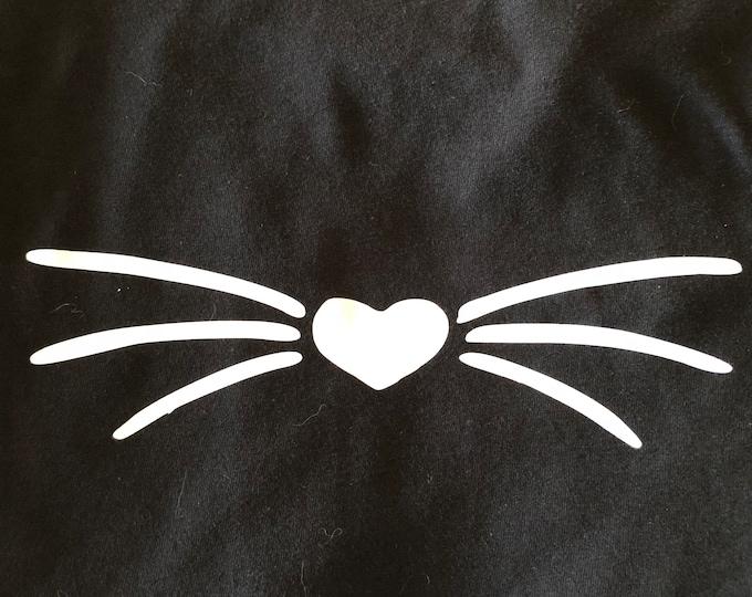 Women's Whisker T-Shirt- White Whisker