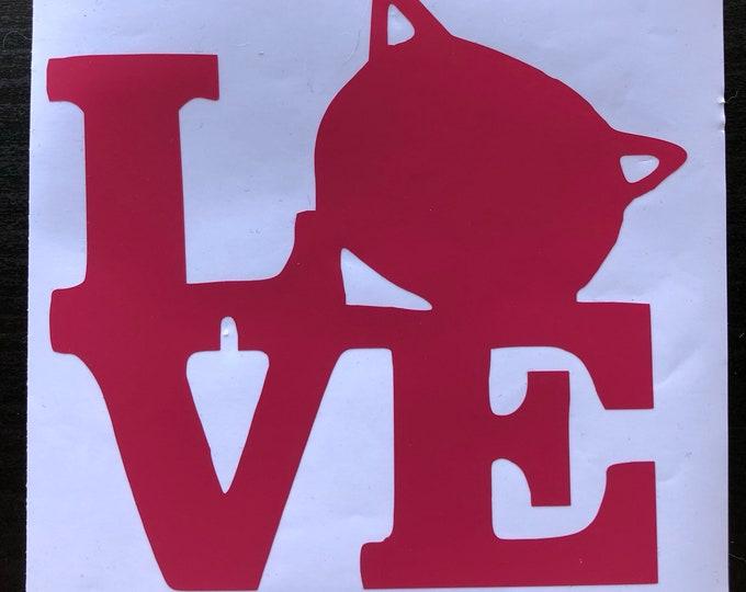 Cat head Love Decal
