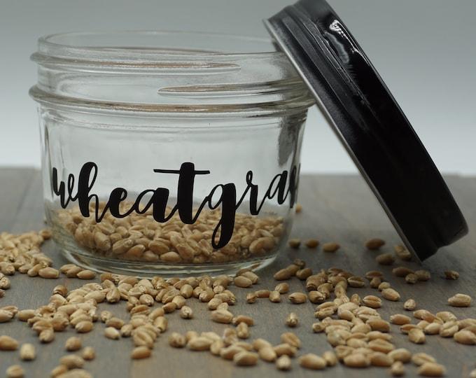 Organic Wheatgrass Growing Kit- Jar w/ 5 oz Bag