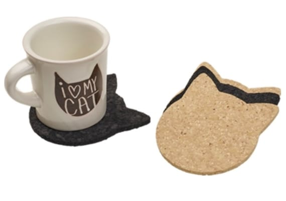 Recycled Rubber Cathead Coaster Set