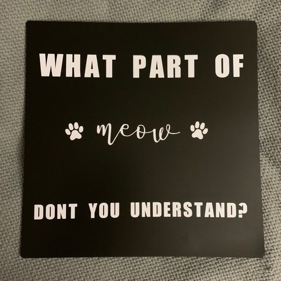 Food Mat- What Part of Meow