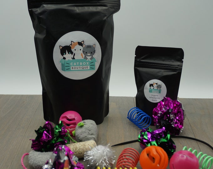 Toy Bag including Organic Wheatgrass Seeds