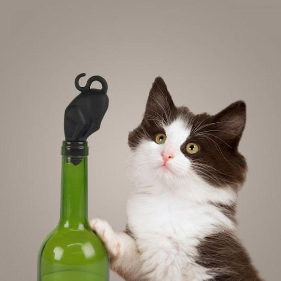 Bottle Stop- Black Cat