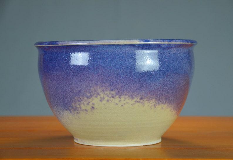 Flower Pot Air Plant Indoor Herb Garden Purple White Ceramic Planter Pot Caldwell Pottery Container Hand Thrown Porcelain Succulent