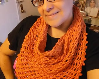 Orange Triangle Scarf