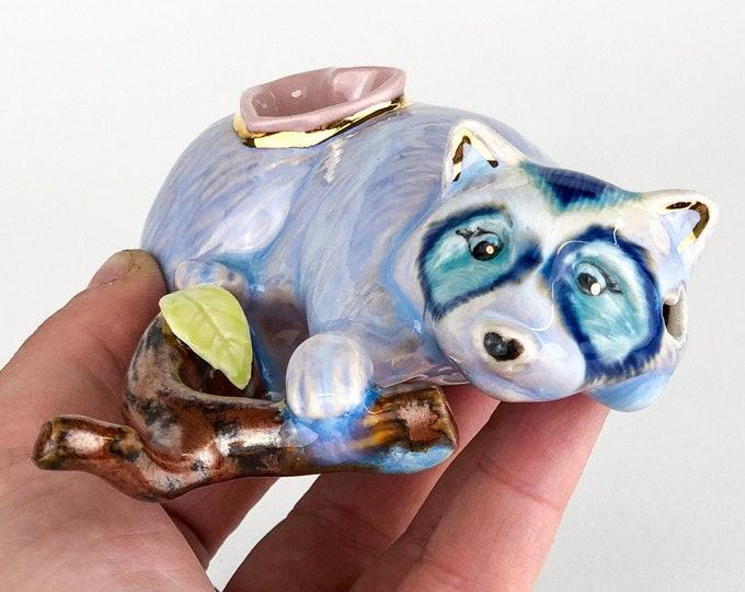 Blue Dream Raccoon Pipe