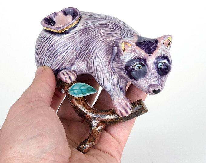 Purple Sherbert Raccoon Pipe