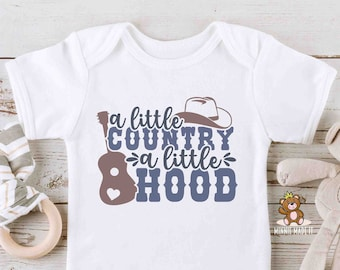 Country Baby Onesie® / Toddler T-Shirt - A little Country, A Little Hood - Country Kids Clothing - Countryside Living Tees - Country Onesie®