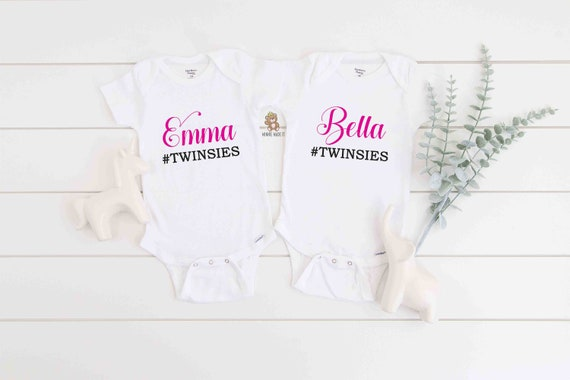 Which Witch is Twin Girls Matching Set of 2 Sisters Halloween Romperstwin First Baby Onesie Outfit Bodysuits