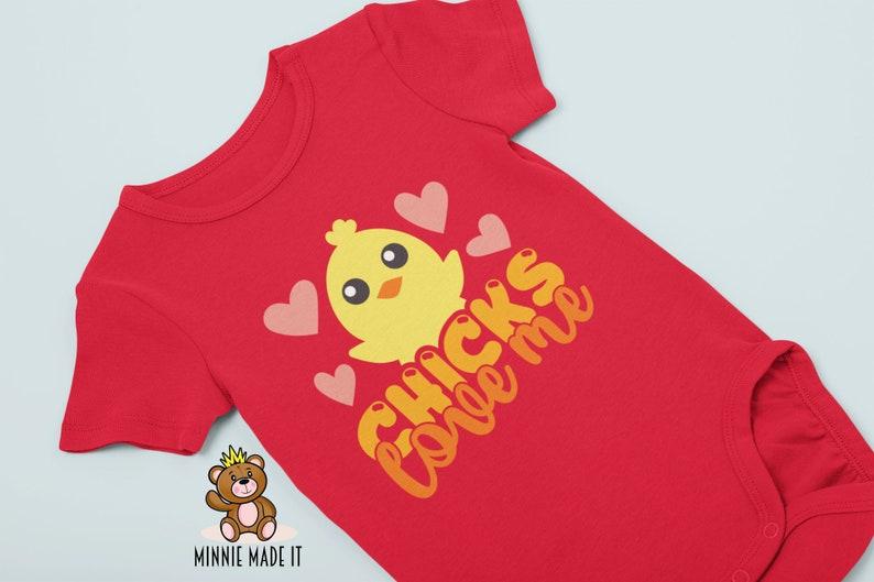 Cute Baby Boy Romper- Easter Baby Onesie\u00ae Toddler Sizes Available Ladies Man Baby Boy Onesie\u00ae Animal Theme Onesie\u00ae Chicks Love Me