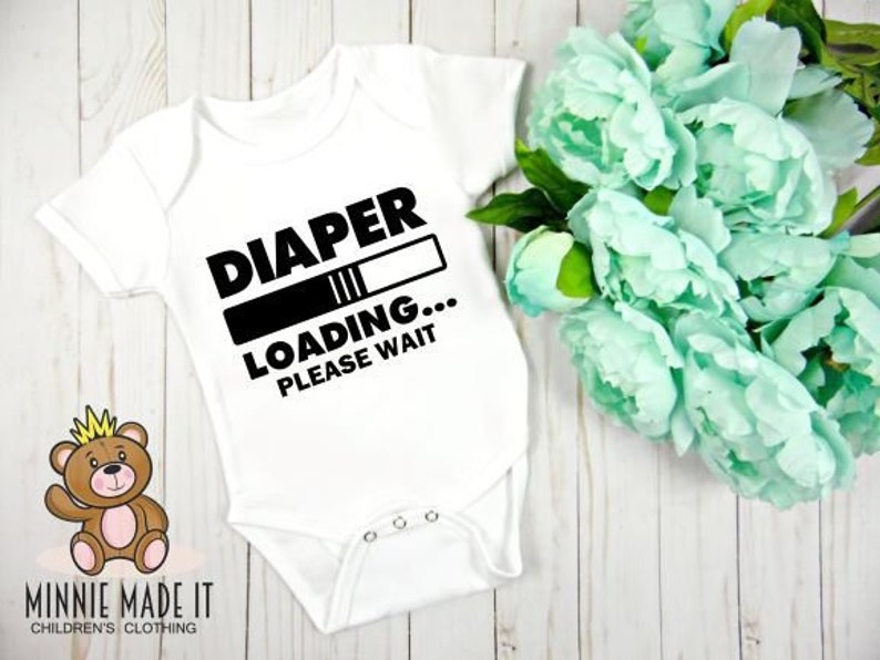 8374148a6 Diaper Loading Funny one piece Cute Custom Baby Gerber | Etsy
