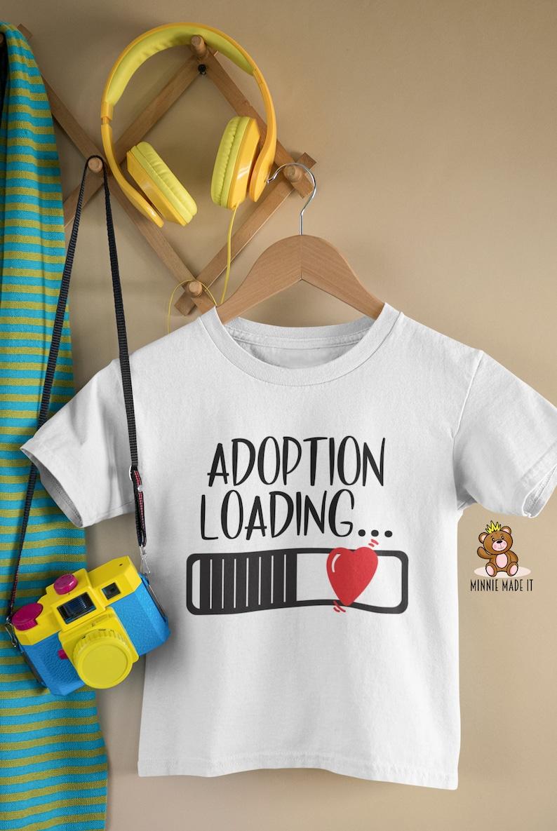 Pregnancy Announcement Onesie\u00ae Adoption in Progress Adoption Loading Adoption Announcement Onesie\u00ae Adopted Kid Shirt