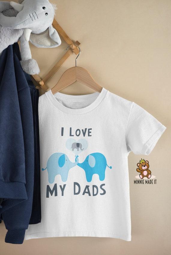 Papas Pride LGBT Onesie I Love My Two Dads Newborn Baby Romper Cute Rainbow Elephant Gay Daddies Baby Clothes