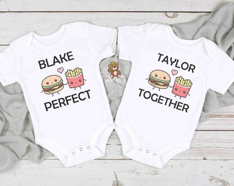 Twins / Siblings Matching T-shirts / Onesies® -  Perfect Together Baby Onesies® - Siblings Matching Tees - Twin Gifts - Cousins Matching Tee