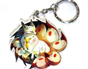Kitsune Keychain
