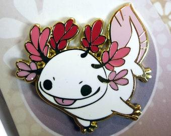 Happy Axolotl Hard Enamel Pin