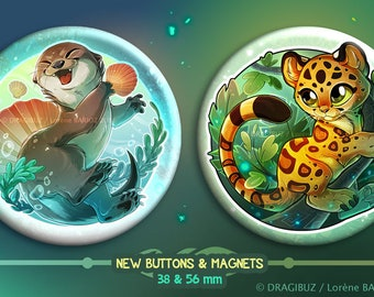 Otter - Panthera - Buttons & Magnets