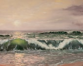 PRINT of wave sea ocean s...