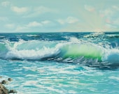 Ocean wave painting ,orig...