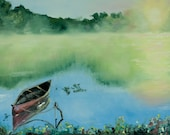 Giclee print of canoe on ...