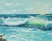 giclee PRINT wave sea oce...