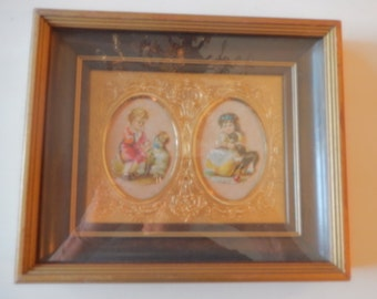 VICTORIAN FLOWER TAGS Picture Wall Hanging