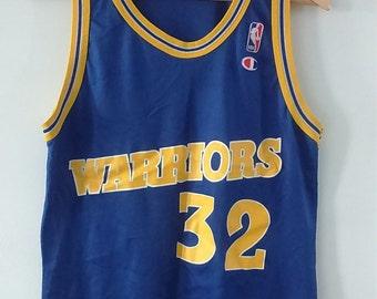 Rare Vintage Champion NBA Warriors Smith Basketball Jersey
