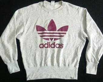 Hot Sale , Rare Vintage adidas Sweatshirt Big Logo Size L