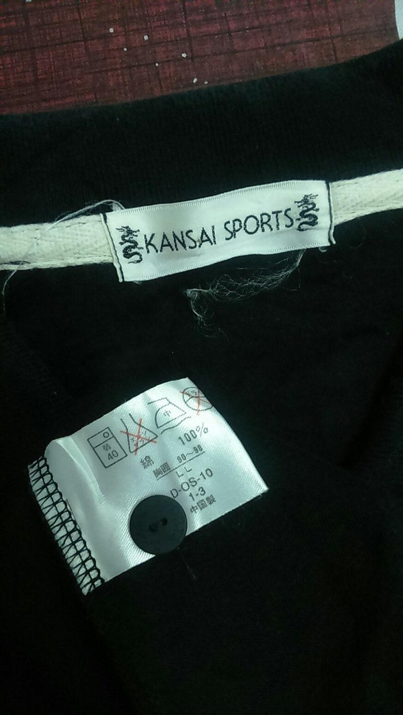 Rare Vintage KANSAI SPORT Polo Tshirt Size L Hot Sale