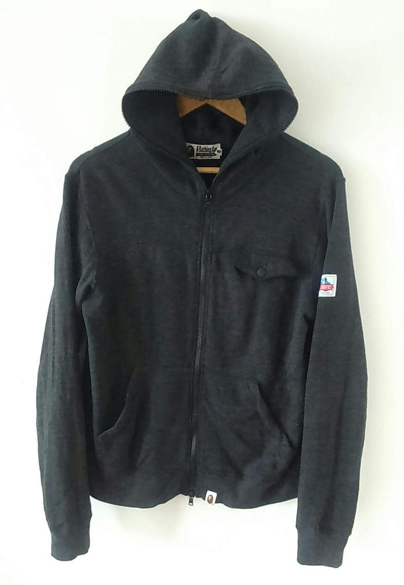 Rare Vintage A BATHING APE BAPE Sweater Hoodie Size S Made in  9f8b996f28ac