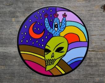 Skull & Cactus Vinyl Sticker