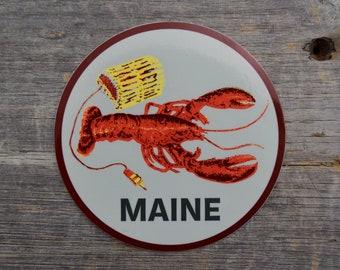 Maine Lobster 3.5x3.5in Vinyl Sticker