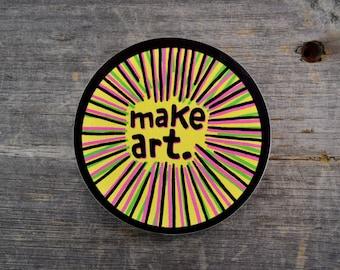 Make Art. Vinyl Sticker