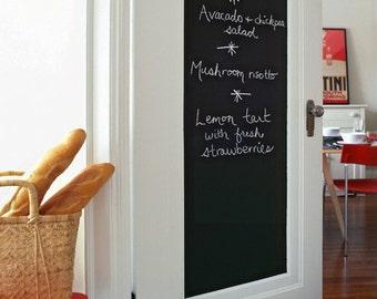 "Chalkboard Wall Sticker, 79"" x 18"", 200x45 cm, Blackboard Removable Vinyl Wall Decal, Chalk Board w/ 5 Pieces of Chalk"