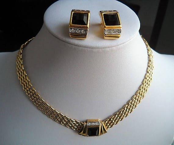 Early 80s Austrian Jewelry Set Choker And Earrings In Modern Etsy