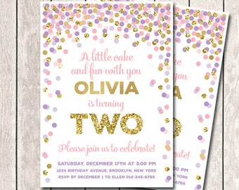 2nd birthday invite etsy