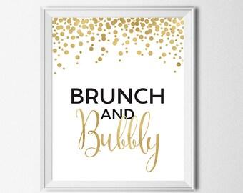 bubbly brunch sign etsy