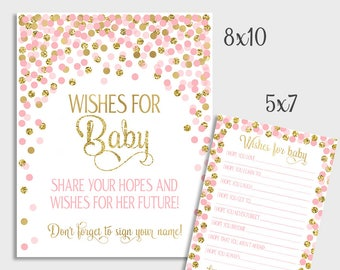 Baby Girl Wish Cards Etsy